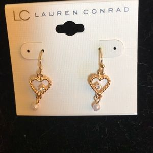 Hanging heart earrings by lc Lauren Conrad